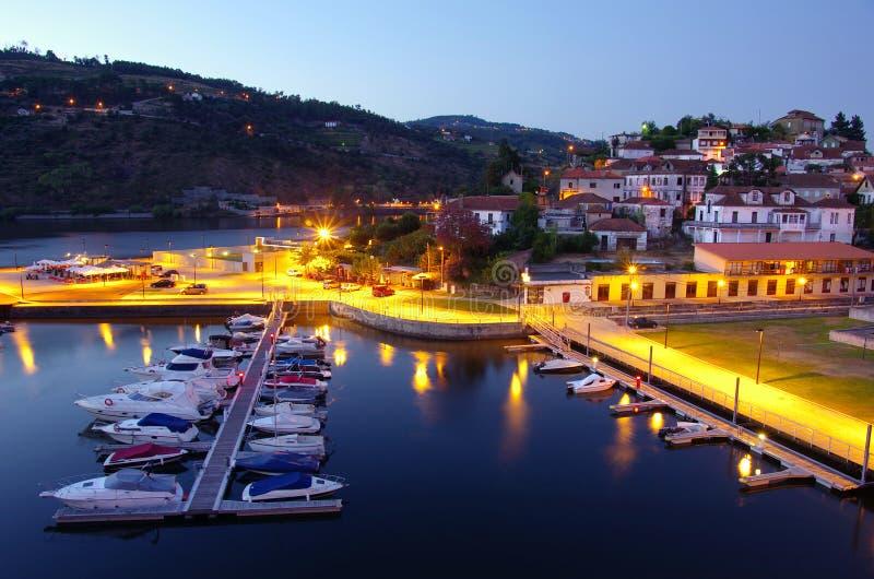 Dok in Rivier Douro royalty-vrije stock afbeeldingen