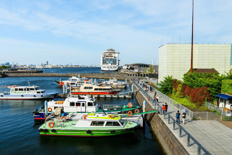 dok van Minato Mirai, Yokohama royalty-vrije stock afbeeldingen