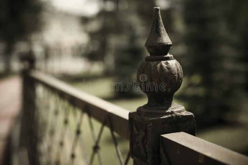 Dokonanego żelaza ogrodzenia szczegół fotografia royalty free
