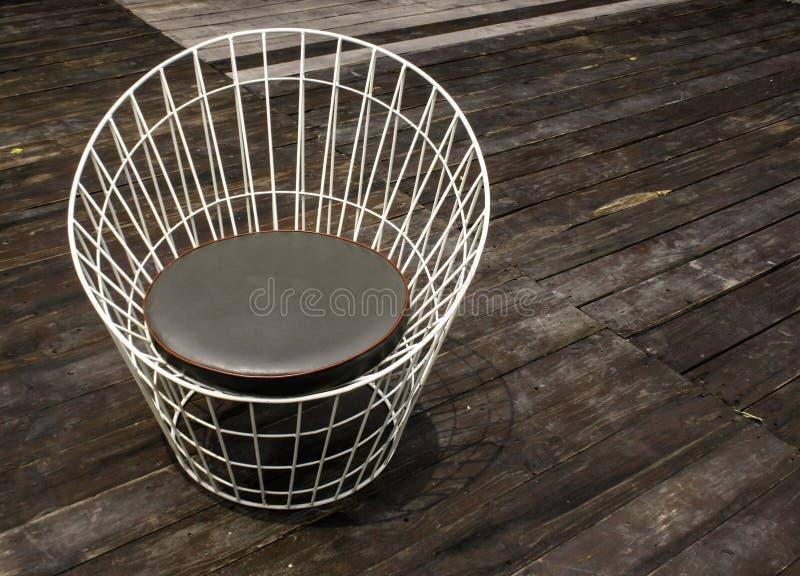 Dokonanej stali krzesło obraz stock