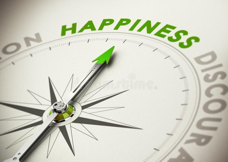 Dokonywać szczęścia pojęcie ilustracja wektor