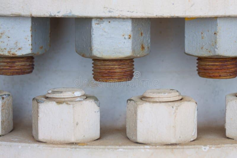 Dokrętka i rygle na maszynie, rygiel jesteśmy wyposażeniem maszyna lub wyposażenie obrazy royalty free