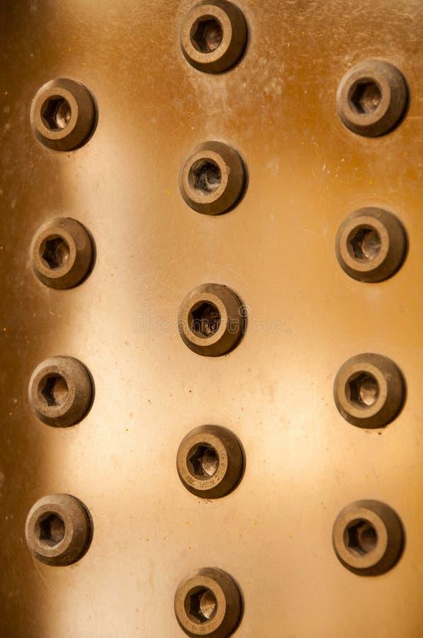 Dokrętka i rygle na maszynie, rygiel jesteśmy wyposażeniem maszyna lub wyposażenie fotografia stock