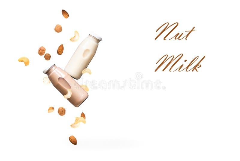 Dokrętki mleko zdjęcia stock