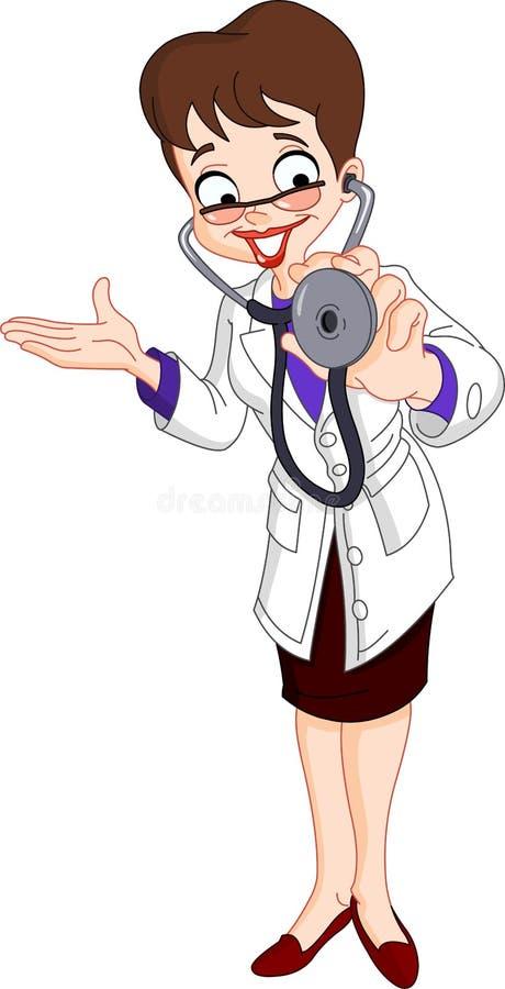 doktor vektor illustrationer