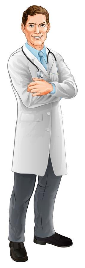 Doktor Cartoon vektor abbildung