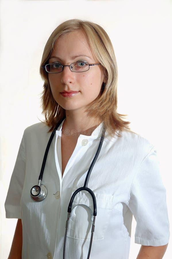 Doktor der jungen Frau stockfotos