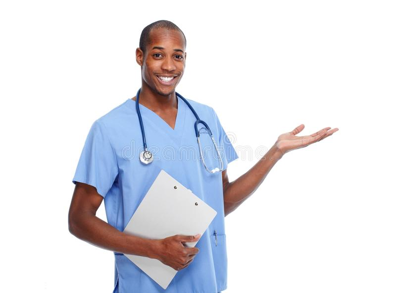 Doktor, der Kopienraum darstellt lizenzfreie stockbilder
