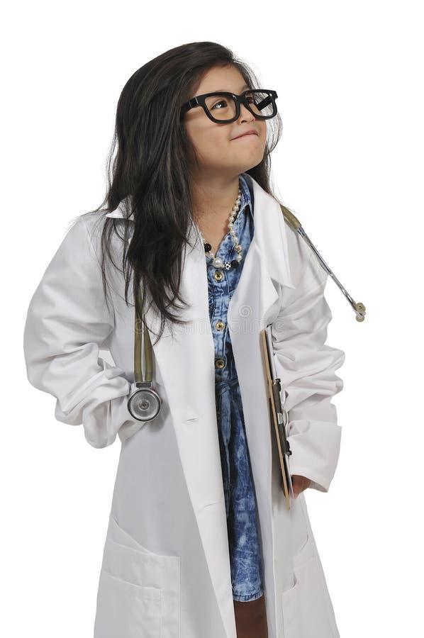 doktor dziewczyna trochę zdjęcie stock