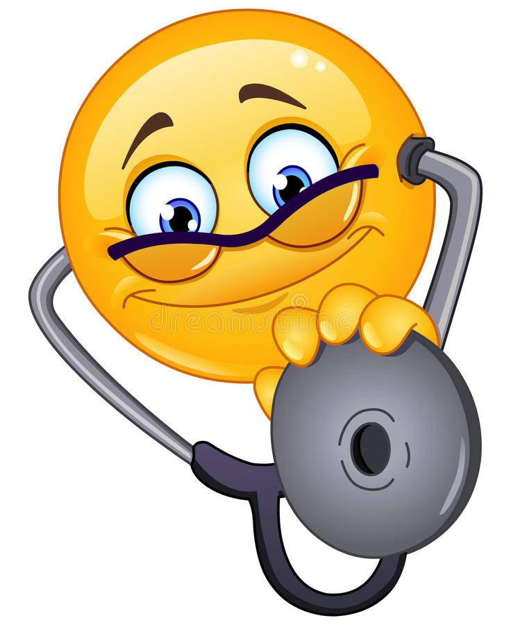 Doktor Emoticon stock abbildung