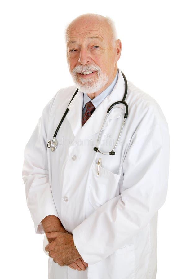 Doktor - erfahren u. vertrauenswürdig lizenzfreies stockbild