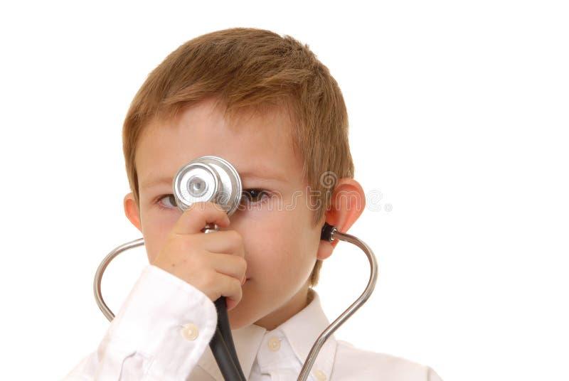 doktor för 7 pojke arkivbild