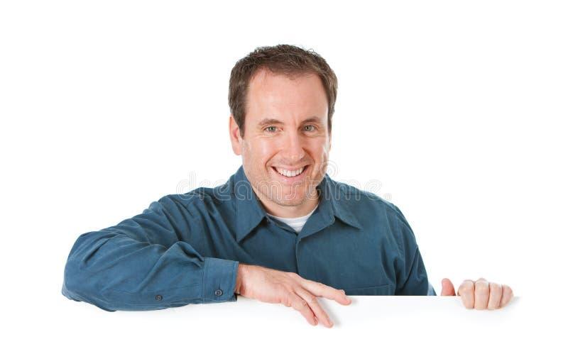 Doktor: Gladlynt man bak det vita kortet royaltyfri bild
