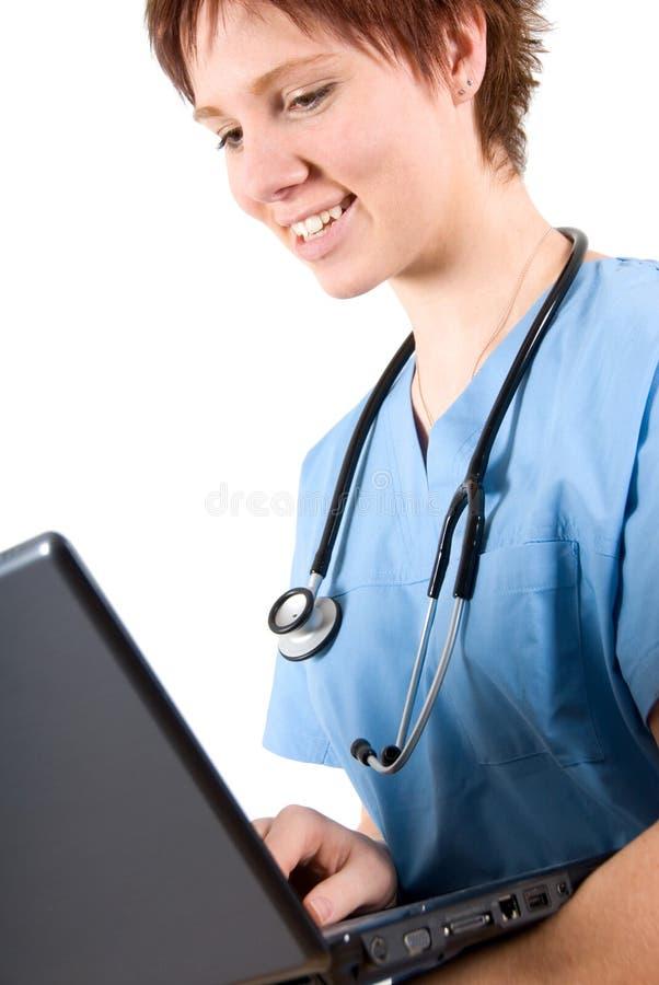 doktor laptop zdjęcie royalty free
