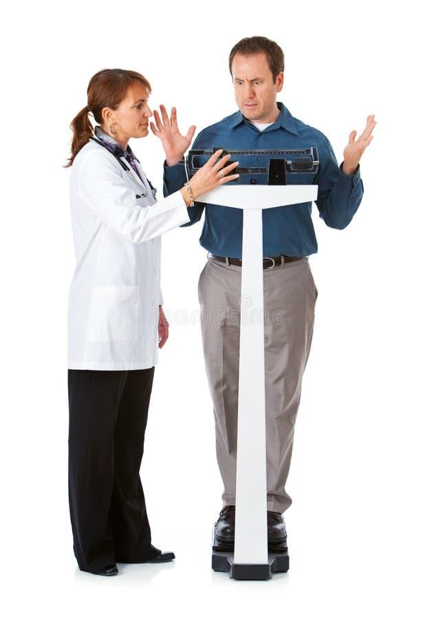 Doktor: Mann gewinnt überraschende Menge Gewicht stockfoto