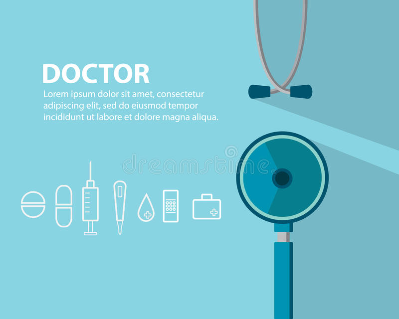 Doktor Medical Background royaltyfri illustrationer
