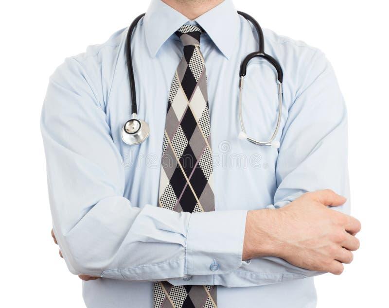 Doktor mit dem Stethoskop, getrennt stockbilder