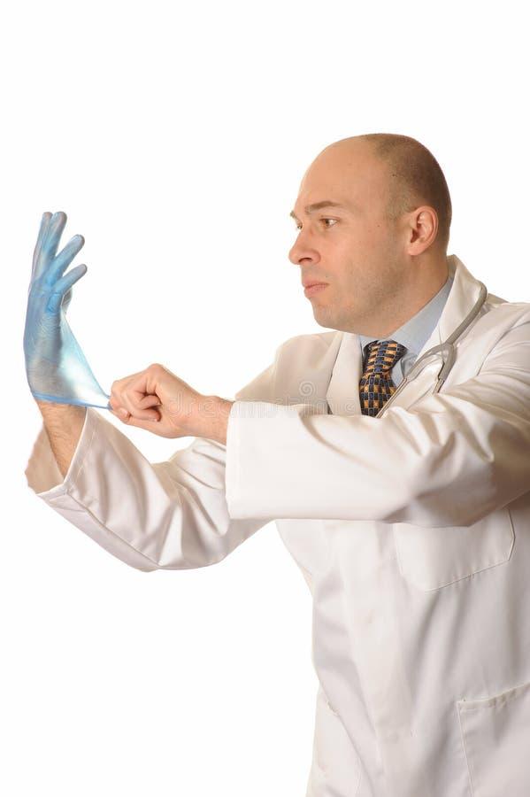 Doktor mit Handschuh stockfoto