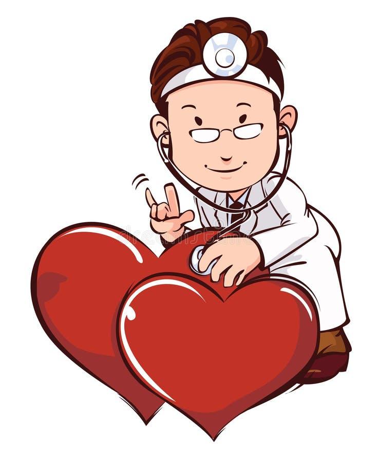 Doktor mit Herz medizinischem Gesundheitswesen lizenzfreie stockfotografie
