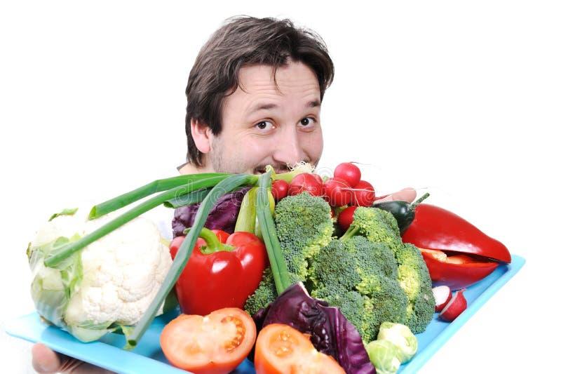 Doktor mit Nahrung lizenzfreies stockfoto