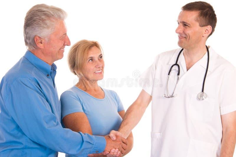 Doktor mit Patienten stockfoto
