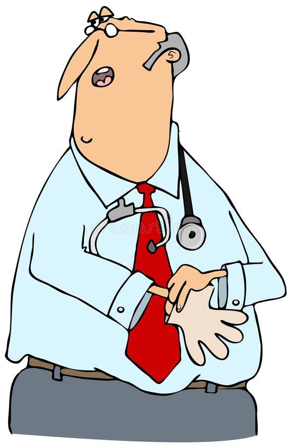 doktor rękawiczek położyć royalty ilustracja