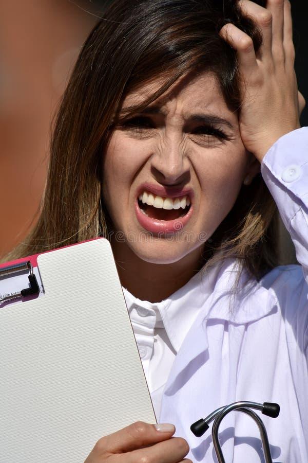 doktor samica stresujące zdjęcia stock