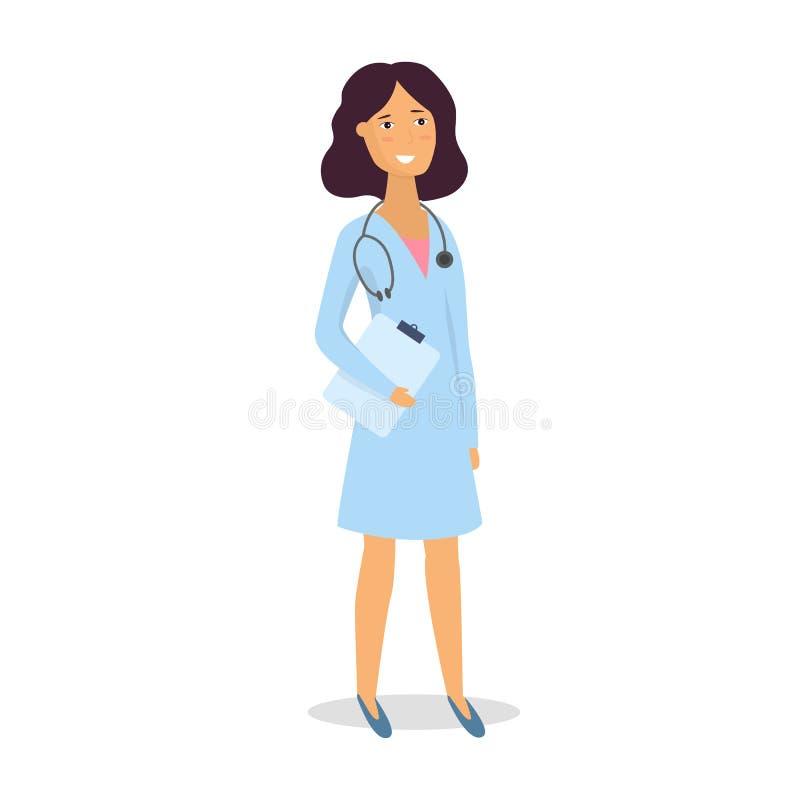 doktor sjuksköterska medicinsk personal Begrepp för medicinskt lag Plant designfolktecken vektor vektor illustrationer