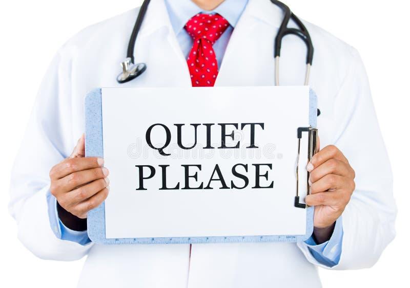 Doktor-tystnaden behar royaltyfria bilder