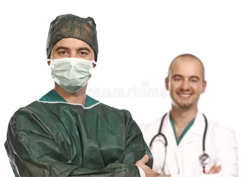 Doktor und Chirurgieportrait lizenzfreies stockfoto
