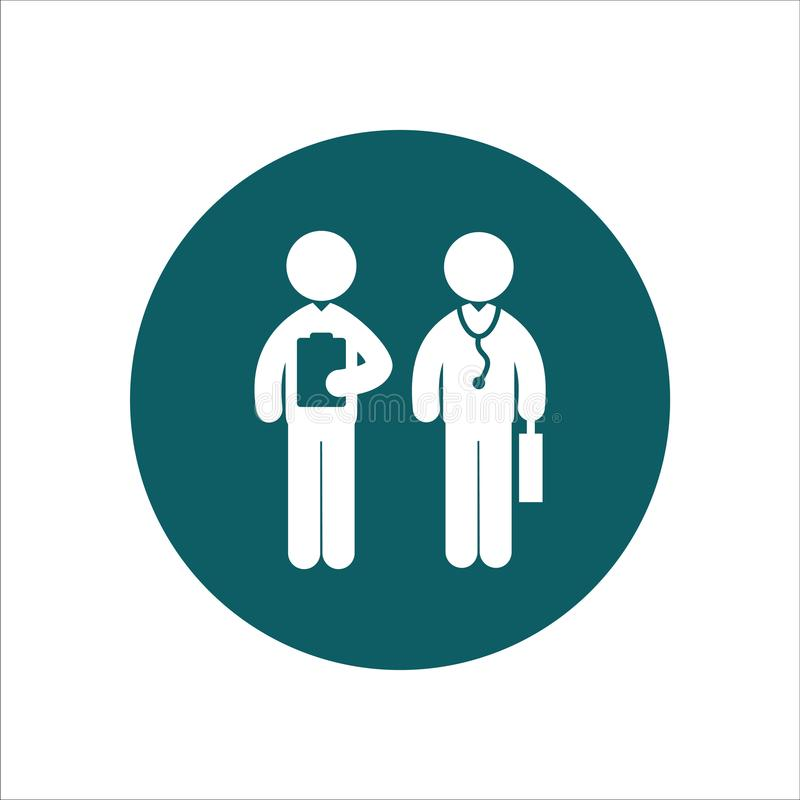 Doktor und Krankenschwester Gesundheits-Ikonen-Vektor Ilustration lizenzfreie abbildung