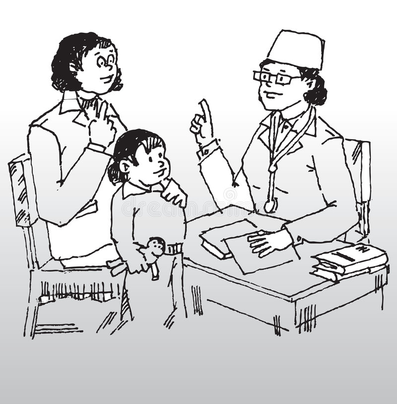 Doktor und Patient