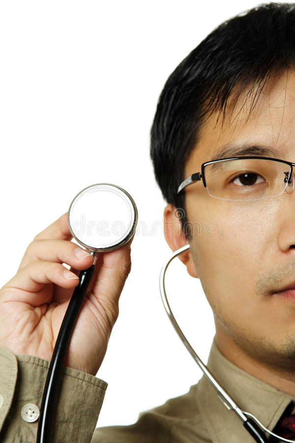 Doktor und Stethoskop lizenzfreies stockfoto
