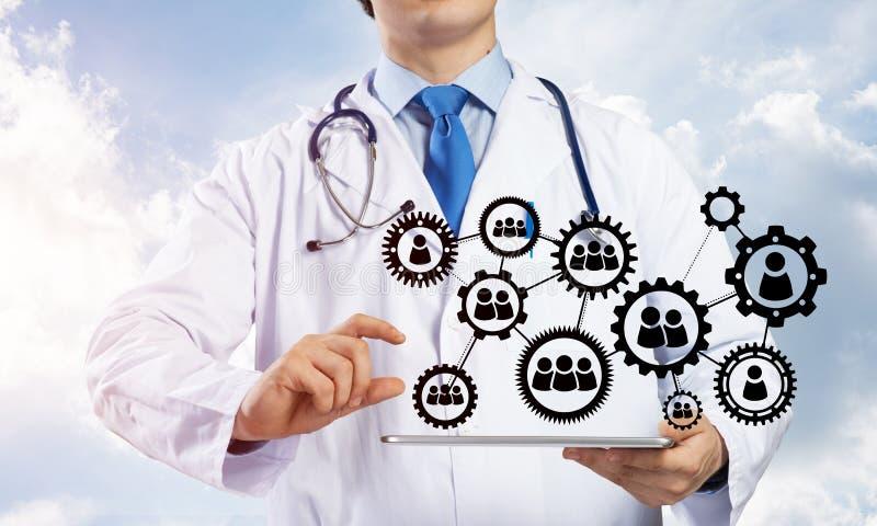 Doktor und Teamwork-Prozess stockbilder