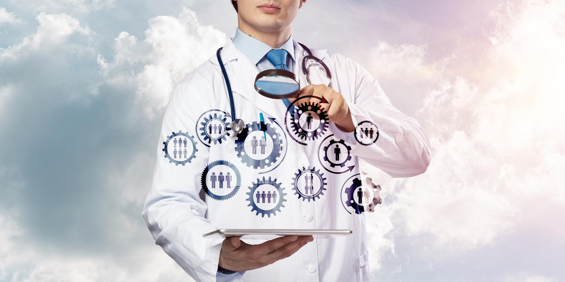 Doktor und Teamwork-Prozess lizenzfreies stockfoto