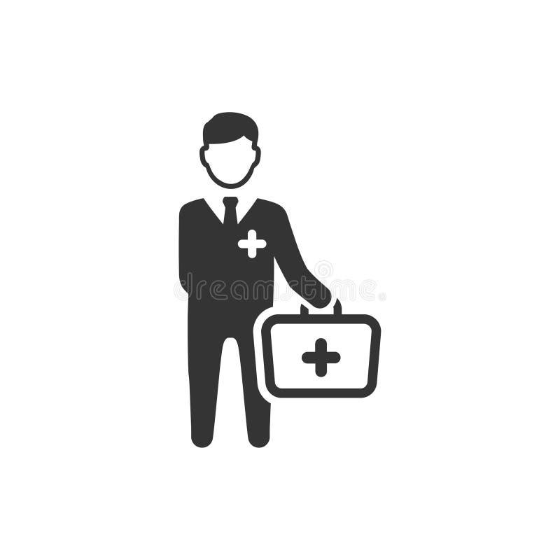 Doktor Visit Icon royaltyfri illustrationer