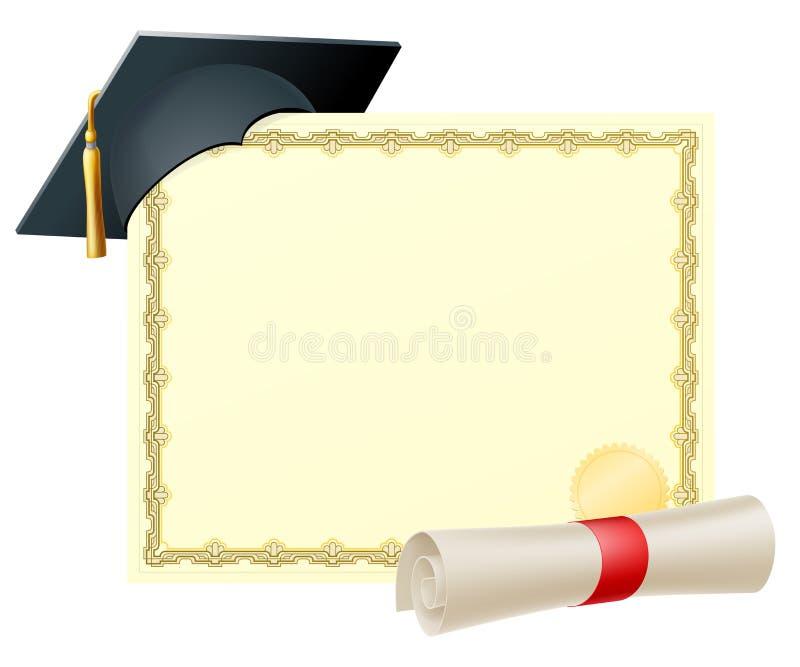 Doktorand- certifikatbakgrund royaltyfri illustrationer