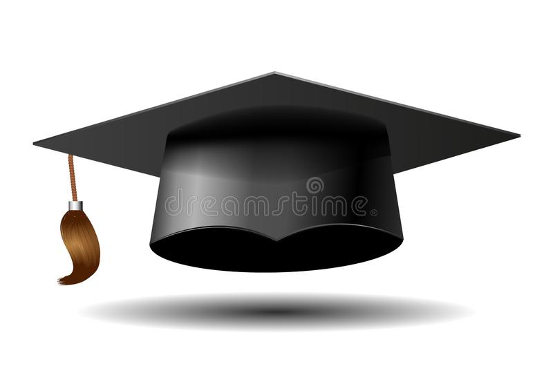Doktorand- lock på vit bakgrund royaltyfri illustrationer