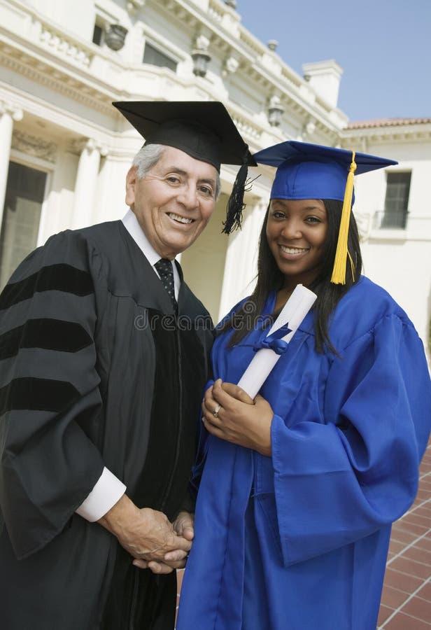 doktorand- utvändig universitetar för dekan arkivbild
