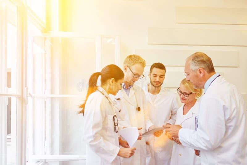 Doktorer i lag under möte arkivfoton