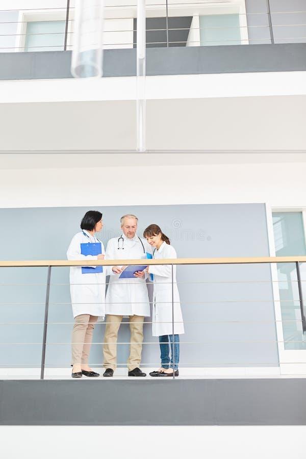 Doktorer i möte på hall fotografering för bildbyråer