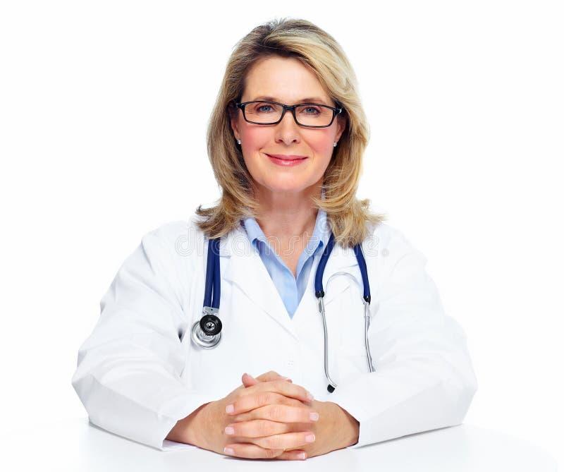 Doktorfrau. stockfotografie