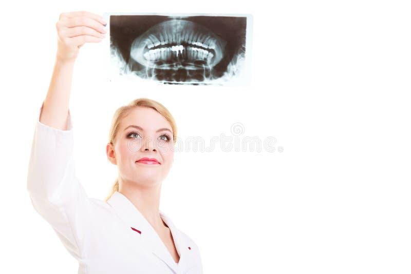 Doktorradiologe, der Röntgenstrahl betrachtet medizinisch stockbild