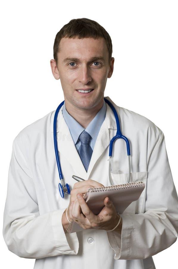 Doktorschreiben in einer Auflage lizenzfreie stockfotografie