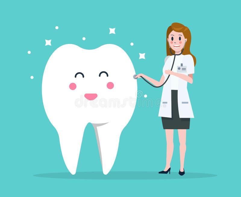 Doktorscy checkup zęby ilustracji