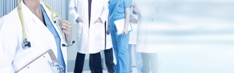 Doktorsgrupp arkivbild