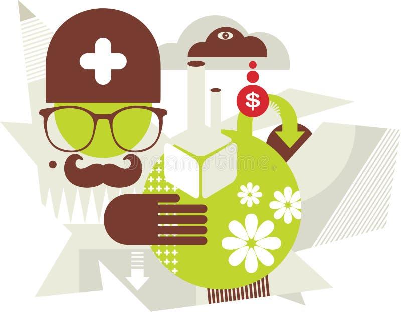 Doktorska natura. ilustracja wektor