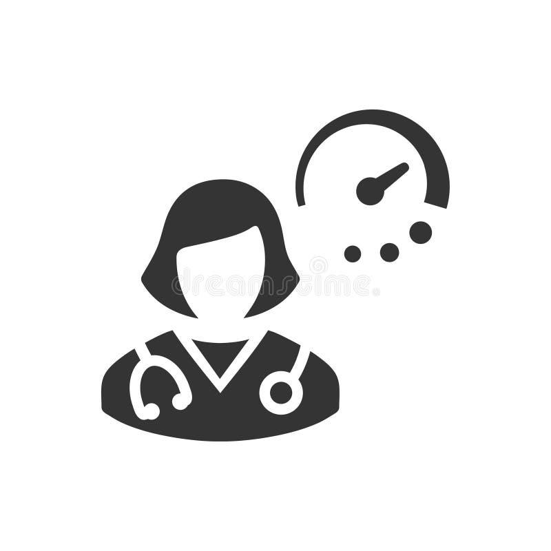 Doktorska rozkład ikona royalty ilustracja