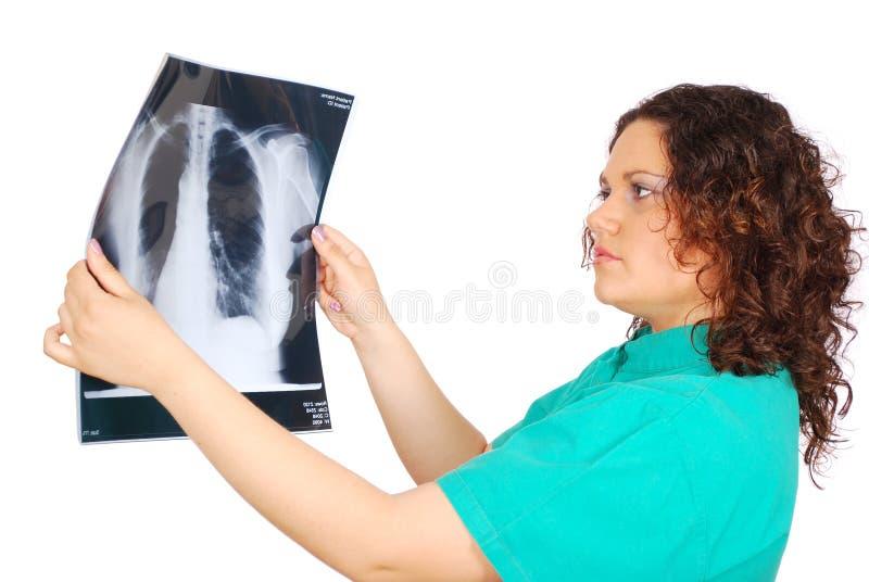 doktorski żeński promień x zdjęcie stock