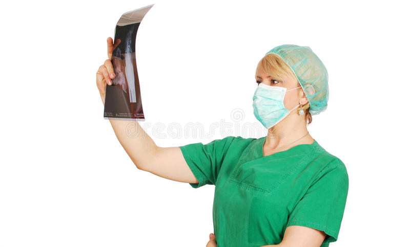doktorski żeński radiolog obraz stock